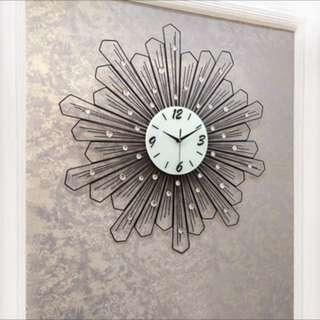 Huge Crystal Wall Clock