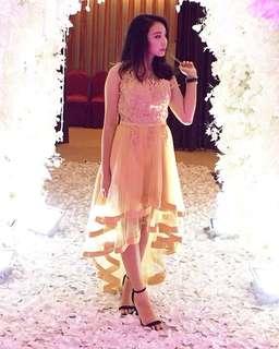 Dress Ekor Gold