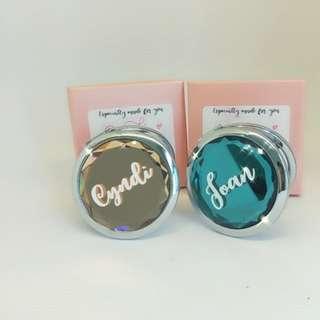 Customised pocket mirror | bridesmaid gift