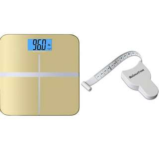 "BalanceFrom High Accuracy Premium Digital Bathroom Scale with 3.6"" Extra Large Dual Color Backlight Display and ""Smart Step-On"" Technology [NEWEST VERSION] (Gold)"