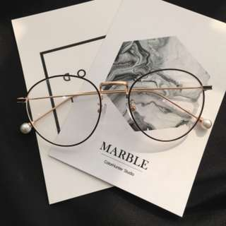 INSTOCK {double colour} <Korean ulzzang round egg shape> fake spectacles fake specs no degree frame