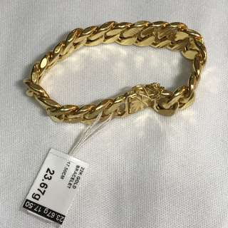 {Fashion Jewelry - Gold Bangle} Beautiful & Classy Unisex 916(22K) Hollow Yellow Gold Bracelet