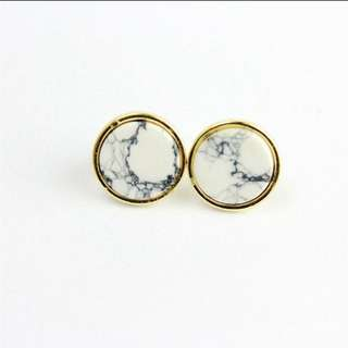 Round Marble Earrings free postage