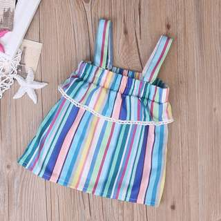 🦁Instock - multicolor stripe dress, baby infant toddler girl children sweet kid happy abcdefgh hello there
