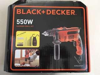 Hammer Drill Kit Black Decker 550w