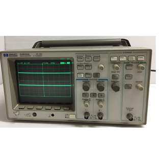 HP HEWLETT PACKARD 54600A 100MHZ 2 CHANNEL OSCILLOSCOPE & 54657A