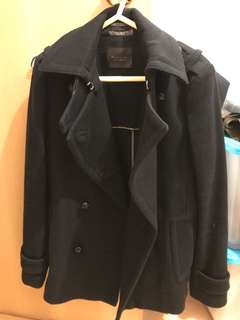 Massimo Dutti (Weekend Essentials) black coat