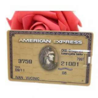 American Express Credit Card USB 2.0 Flash Drive - 16GB