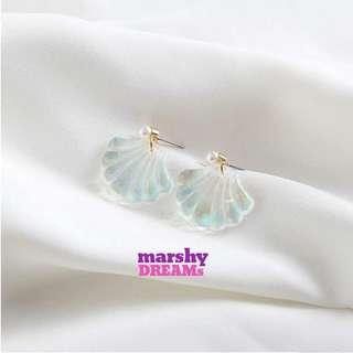 Mermaid Shell Drop Earrings