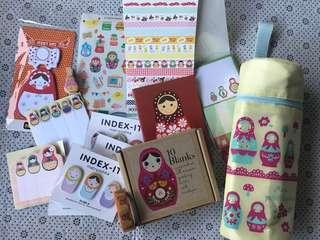 Matryoshka Doll Stationery etc Lot