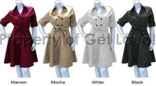 Get laud trench coat size medium black