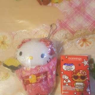 Hello Kitty正版有吊版日本和服公仔,全新未用過