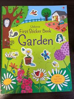 New usborne garden stickerbook