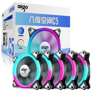 Aigo C5 12mm RGB LED Computer Case Fan