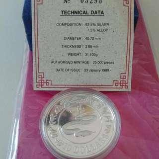 Yr .1989. Silver Coin