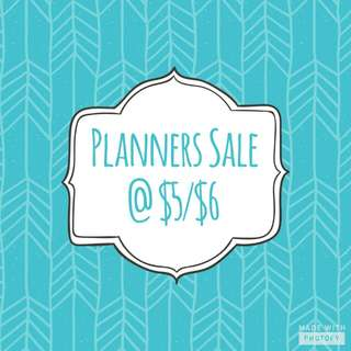 Planners Sale @ $5 / $6