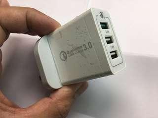 平價QC3.0/3usb adapter/QC3.0usb充電器/HK/UK port