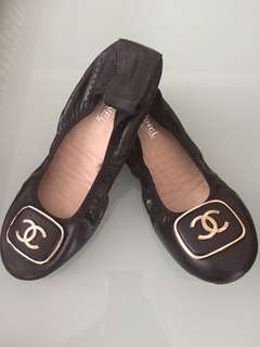Chanel black shoes