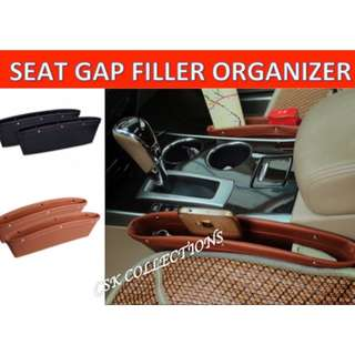Car Seat Gap Filler PU Leather Interior Storage