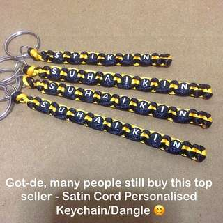 Satin Cord Personalised Keychains / Dangles / Name Tags [Children's Day Teacher's Valentine Raya Christmas graduation farewell door handmade gifts uncle.anthony uncle anthony uac ] FOR MORE PICTURES & DETAILS, GO HERE: 👉 http://carousell.com/p/111496336
