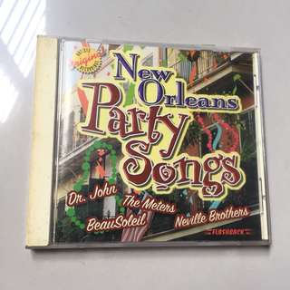 New Orleans Party Songs Music CD