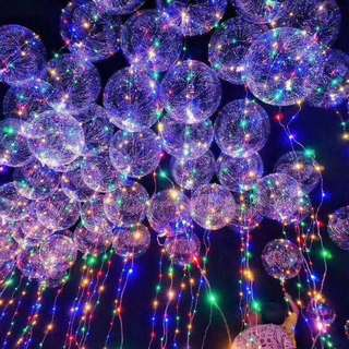 LED Clear Bubble Balloon with Multi Colour Lights 18/20/24/30 inch available