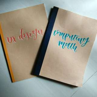 Custom muji books