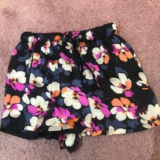 Zara Floral Flowy Shorts