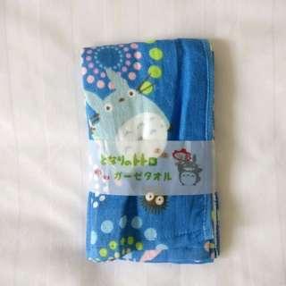 Totoro 宮崎駿 龍貓 藍 長毛巾 洗面巾