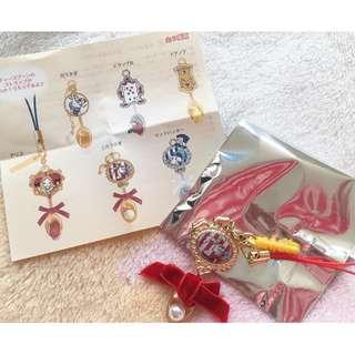 日本版 - Disneystore Alice in wonderland Alice party Moblie strap charm 迪士尼愛麗絲 電話吊飾  (三月兔)