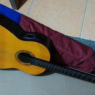 Gitar akustik elektrik classic new