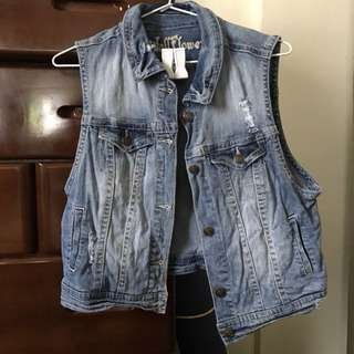 Distressed denim vest (free shipping)