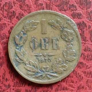瑞典王國 1875年 壹仙小銅幣 [免郵費