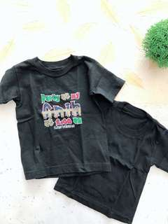 2 pcs black tshirt