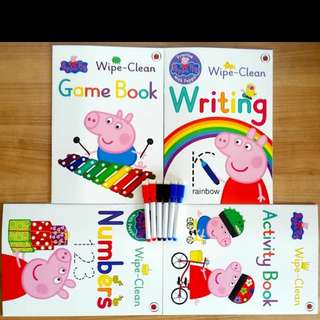 Peppa pig wipe clean activity books