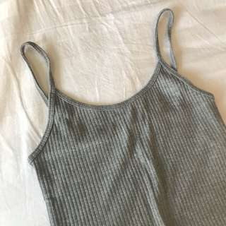 Topshop Gray Cropped Tank