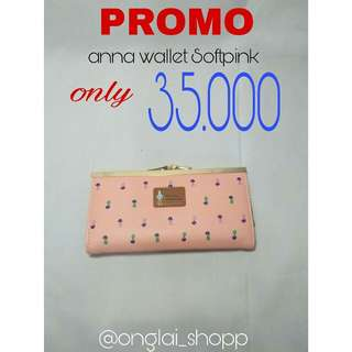 PROMO DOMPET MURAH !! anna wallet Softpink