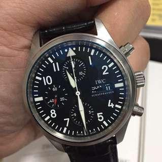 IWC IW371701 黑色皮帶手錶