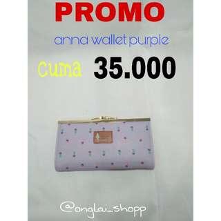 PROMO DOMPET MURAH !! anna wallet purple