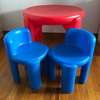 Little Tikes 'Bright' and 'Bold' Table and Chair Set in Red and Blue
