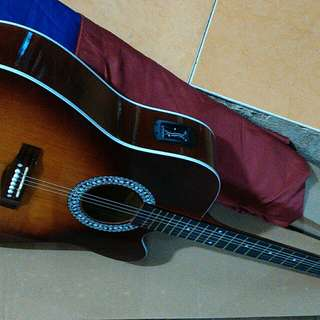 Gitar acccustik yamaha elektrik stting new
