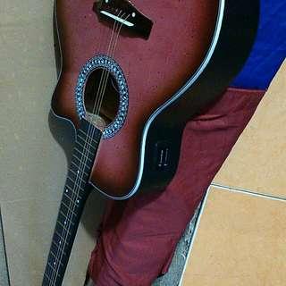 Gitar string elektrik lis hitam