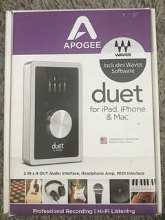 Apogee Duet audio interfaced
