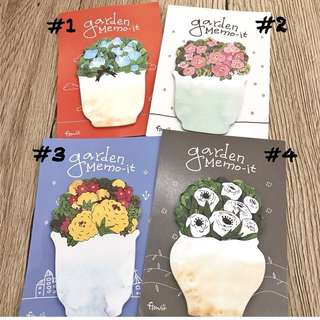 Flower pot post it notes
