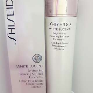 White lucent brightening balancing softener