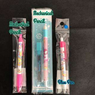 My Melody Blue Pen Mechanical Pencil 3 PCS