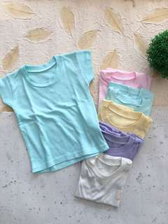 6 pcs Daily Wear Kaos Pastel