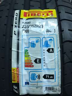 Pirelli PZero 235/35 R20 tires