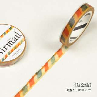 Slim Washi Tape (Mail) / Sample 50cm (Ref No.: 169)