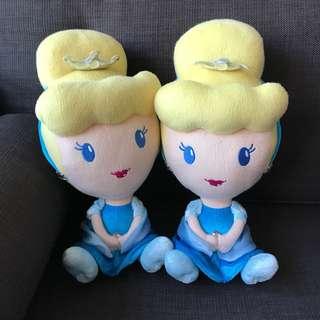 Cinderella Plush Toy x 2